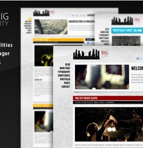 Big City 2.0 ThemeForest шаблон персонального блога Wordpress