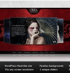 Crea WP от Themeforest - современный шаблон Wordpress для портфолио