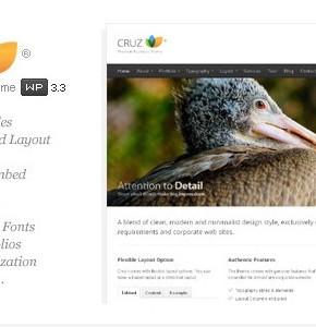 Cruz Themeforest - современная бизнес тема Wordpress
