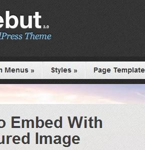 Debut Press75 современный видео блоговый шаблон для Wordpress