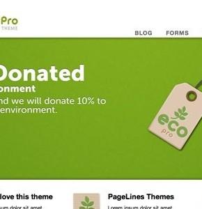 EcoPro PageLines бизнес тема wordpress
