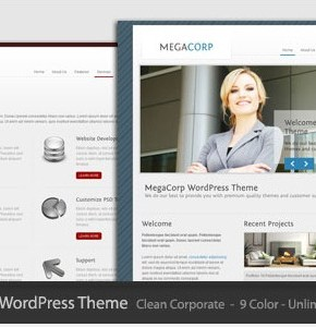 MegaCorp Themeforest новый шаблон для корпаративного сайта бизнес тематики