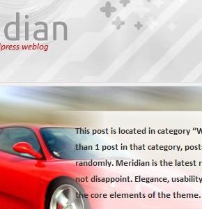 Meridian RocketTheme - авто премиум тема Wordpress