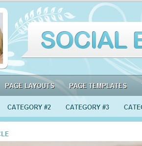 SocialEyes  ModThemes тема сайта женской тематики