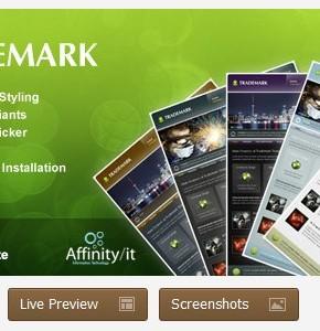 Trademark ThemeForest бизнес шаблон Wordpress