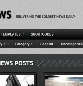 BoldNews v1.1.2 Woothemes новостной шаблон Wordpress с PSD файлами