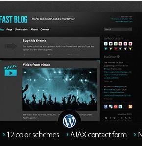 Fast Blog Themefores отличный шаблон Wordpress, для создания блога на Wordpress