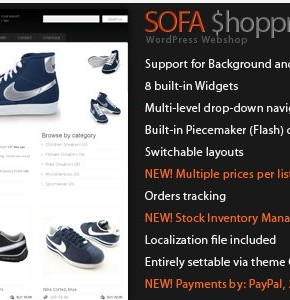 Sofa Shoppr Themeforest шаблон интернет магазина Wordpress на Webshop