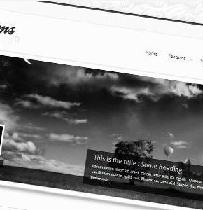 Transforms Themeforest Wordpress чёрно-белый шаблон с портфолио и блогом
