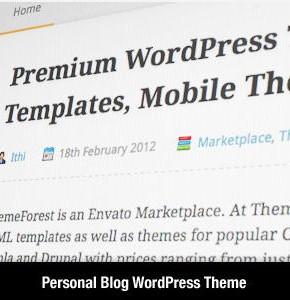 A - Personal Themeforest блоговый шаблон Wordpress