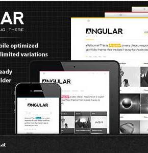 Angular Themeforest современный шаблон для портфолио Wordpress