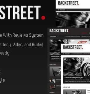 Backstreet Themeforest  темя для новостного блога Wordpress