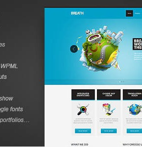 Breath themeforest бизнес шаблон Wordpress