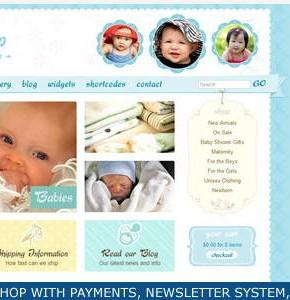 Cute & Sweet Themeforest шаблон интернет магазина для детей на Wordpress