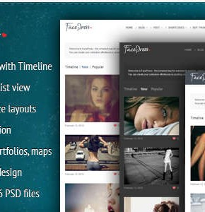 FacePress Themeforest шаблон для community на Wordpress