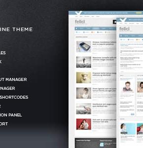 Felici Themeforest новая новостная тема Wordpress