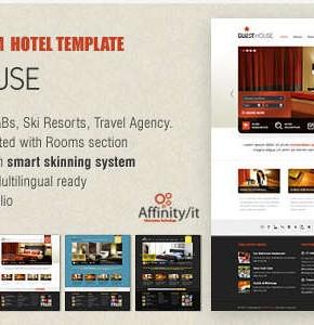 Guesthouse Hotel, B&B Themeforest шаблон Wordpress для бронирования гостиниц или гостиничного бизнеса
