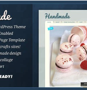 Handmade Themeforest мини интернет магазин на Wordpress