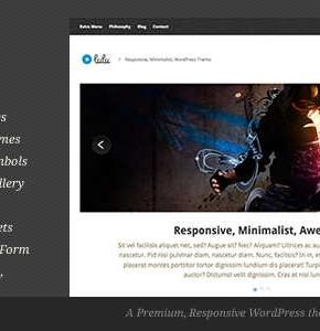 Lulu Themeforest минимализм тема Wordpress