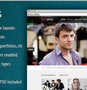 MultiPress Themeforest новостной наблон Wordpress