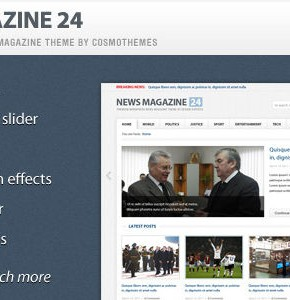 News Magazine 24 Themeforest новостной шаблон для сайта на Wordpress