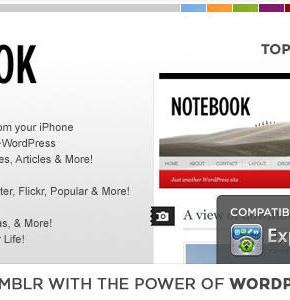 WP Notebook Themeforest блоговый шаблон Wordpress