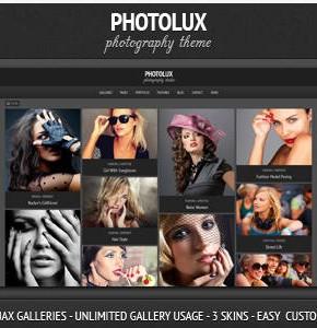 Photolux Themeforest фото шаблон работает на Wordpress