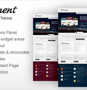 Prominent Themeforest универсальная тема Wordpress для портфолио или бизнес сайтов