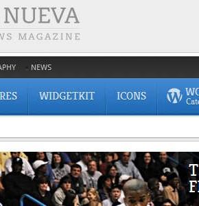 Revista YOOtheme Wordpress мега новостной шаблон
