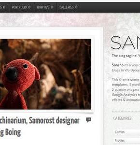 Sancho Themeforest шаблон блога или портфолио Wordpress