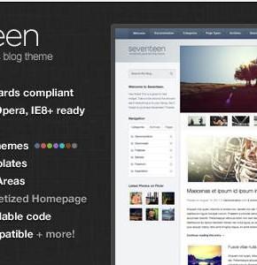 Seventeen Themeforest универсальная тема Wordpress