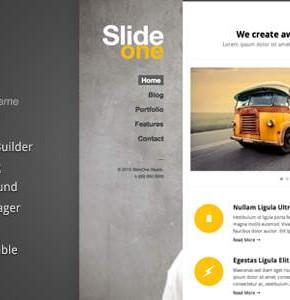Slide One Themeforest одностраничный блог Wordpress