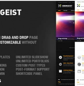 Ubergeist Themeforest универсальная тема Wordpress