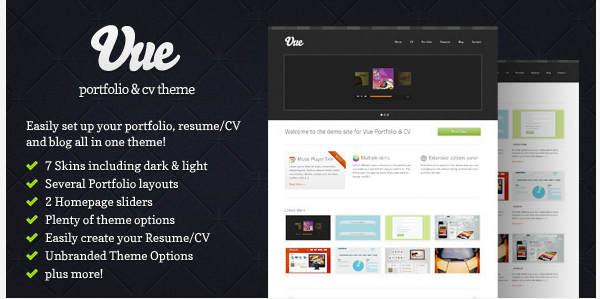 Vue Themeforest прикольный шаблон для портфолио Wordpress и не только