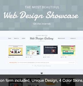 Шаблон Web Design Showcase Themeforest для создания каталога веб сайтов