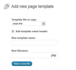 заходим в Внешний вид -> Add Page Template настройки плагина