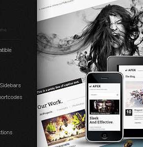 Apex Themeforest тема для портфолио на Wordpress