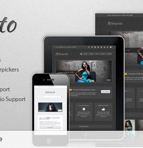 Attracto WP Themeforest - шаблон портфолио Wordpress (Photography)