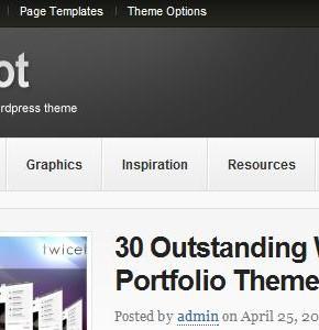 Bigfoot ThemeJunkie серый шаблон для блога Wordpress