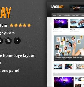 Broadway Themeforest новостной шаблон Wordpress (Blog / Magazine)
