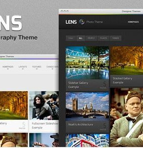 Lens Themeforest фото шаблон Wordpress  (Photography)