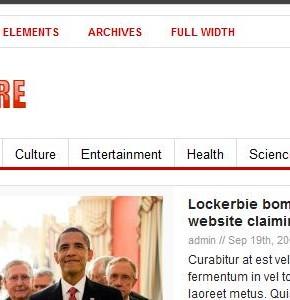 Newswire ThemeJunkie новостной шаблон Wordpress с оттенками красного цвета