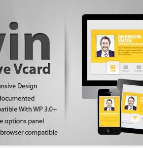 Zwin Themeforest шаблон сайт визитка vCard Wordpress (Portfolio)