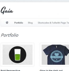 Gaia Themeforest тема для портфолио Wordpress