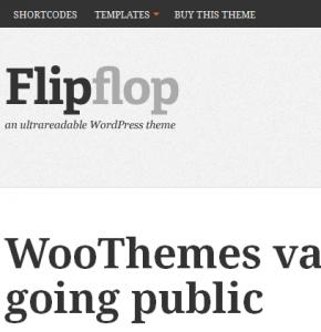 FlipFlop современный шаблон от Wootheme