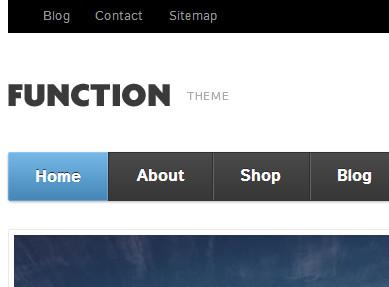 Function WooThemes простой шаблон интернет магазина с блогом Wordpress