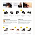 Скриншот интернет магазина