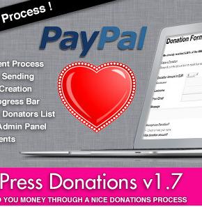 Easy WordPress Donations плагин пожертвований на PayPal для Wordpress