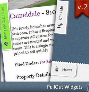 PullOut Widgets CodeCanyon плагин всплывающих и выдвижных виджетов WordPress
