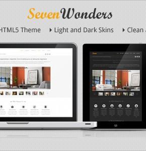 SevenWonders Clean Responsive Themeforest бизнес тема Wordpress